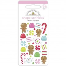 Doodlebug Night Before Christmas Visions of Sugarplums Sprinkles Enamel Shapes 6943