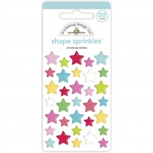 Doodlebug Night Before Christmas Wishes Star Sprinkles Enamel Shapes 6944
