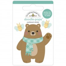 Doodlebug Pumpkin Spice Beary Cute Doodle-Pops Dimensional Sticker 6954
