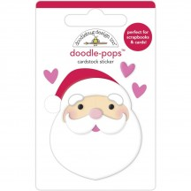 Doodlebug Night Before Christmas I Love Santa Doodle-Pops Dimensional Sticker 6963