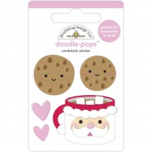 Doodlebug Night Before Christmas Cookies for Santa Doodle-Pops Dimensional Sticker 6966