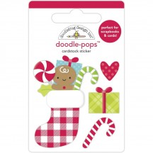 Doodlebug Night Before Christmas Stocking Stuffers Doodle-Pops Dimensional Sticker 6968