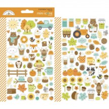 Doodlebug Pumpkin Spice Mini Icons Cardstock Stickers 6969