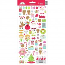 "Doodlebug Night Before Christmas 6""x12"" Icons Cardstock Stickers 6995"