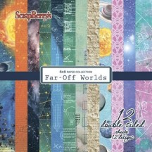 """Scrapberry's Far Off Worlds 6""""x6"""" Double-Sided Paper Pad 12 Sheets"""