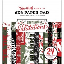 """Echo Park Christmas Salutations Double-Sided 6""""x6"""" Paper Pad SAC255023"""