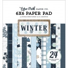 """Echo Park Winter Double-Sided 6""""x6"""" Paper Pad WTR257023"""