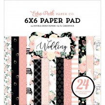 """Echo Park Wedding 6""""x6"""" Double-Sided Paper Pad WED258023"""