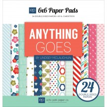 "Echo Park Anything Goes 6""x6"" Double-Sided Paper Pad 24 Sheets AG74023"