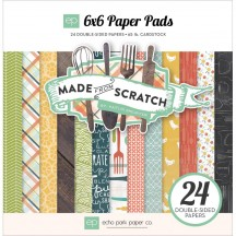 """Echo Park Made From Scratch 6""""x6"""" Double-Sided Paper Pad 24 Sheets MFS75023"""
