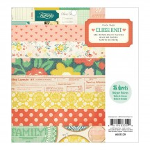 "Crate Paper Close Knit 6""x6"" Paper Pad 36 sheets 683329"