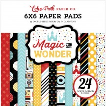 "Echo Park Magic & Wonder 6""x6"" Double-Sided Paper Pad 24 Sheets MW124023"