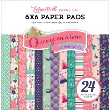 "Echo Park Once Upon a Time Princess 6""x6"" Double-Sided Paper Pad 24 Sheets OUG22023"
