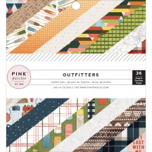 """Pink Paislee Outfitters 6""""x6"""" Single-Sided Paper Pad - 36 Sheets 310345"""