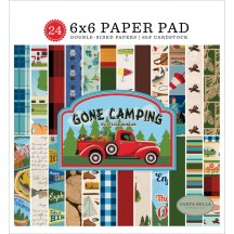 "Carta Bella Gone Camping 6""x6"" Double-Sided Paper Pad CBGCS85023"
