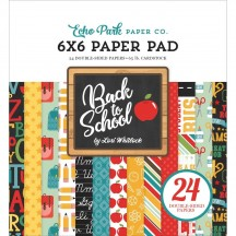 "Echo Park Back to School 6""x6'"" Double-Sided Paper Pad 24 Sheets BTS15623"