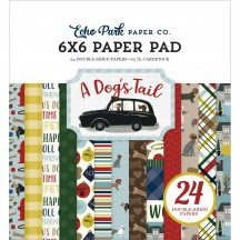 """Echo Park A Dog's Tail 6""""x6'"""" Double-Sided Paper Pad 24 Sheets ADT155023"""
