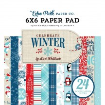"Echo Park Celebrate Winter 6""x6'"" Double-Sided Paper Pad 24 Sheets CW162023"