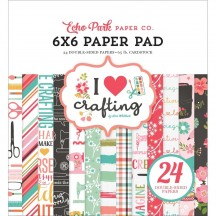 "Echo Park I Heart Crafting 6""x6"" Double-Sided Paper Pad 24 Sheets HC169023"