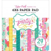"Echo Park Let's Party Birthday 6""x6"" Double-Sided Paper Pad 24 Sheets LP170023"