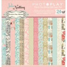 """Photoplay Julie Nutting French Flea Market 6""""x6"""" Double-Sided Paper Pad FM2503"""