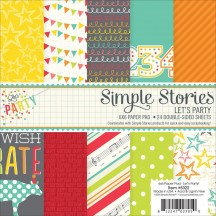 "Simple Stories Let's Party 6""x6"" Double-Sided Paper Pad 5322"