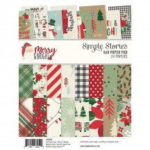 "Simple Stories Merry & Bright Christmas 6""x8"" Double-Sided Paper Pad 10329"