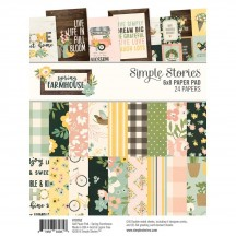 "Simple Stories Spring Farmhouse 6""x8"" Double-Sided Paper Pad 10762"