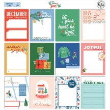 "Pinkfresh Studio Oh What Fun Christmas 3""x4"" Journaling Cards PFRC700620"