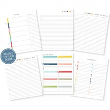 "Simple Stories Life Documented Basic 6""x8"" Planner Inserts 7047"