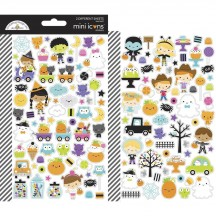 Doodlebug Ghost Town Halloween Mini Icons Cardstock Stickers 7048