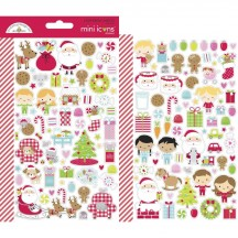 Doodlebug Night Before Christmas Mini Icons Cardstock Stickers 7049