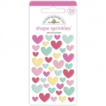 Doodlebug Made With Love All My Heart Sprinkles Enamel Shapes 7091