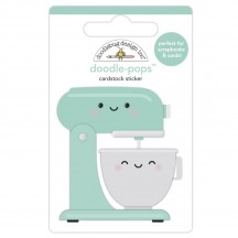 Doodlebug Made With Love Mixed With Love Doodle-Pops Dimensional Sticker 7095