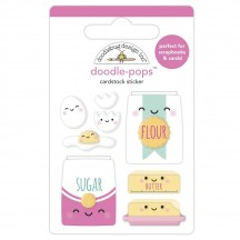 Doodlebug Made With Love Bake Me Happy Doodle-Pops Dimensional Sticker 7096