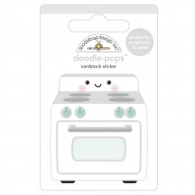 Doodlebug Made With Love What's Cookin'? Doodle-Pops Dimensional Sticker 7098