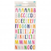 American Crafts Paige Evans Go the Scenic Route Foam & Cardstock Alphabet Letter Thickers 369772