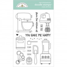Doodlebug Made With Love Appliance Doodle Stamps Clear Photopolymer Stamp Set 7104