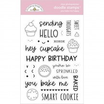 Doodlebug Made With Love You Bake Me Happy Doodle Stamps Clear Photopolymer Stamp Set 7106