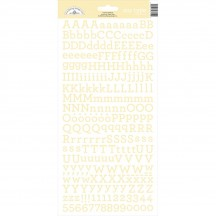 Doodlebug Design Bumblebee Yellow My Type Cardstock Alphabet Letter Stickers 7154