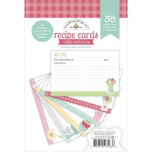 "Doodlebug Made With Love 4""x6"" Recipe Cards 7163"