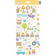 """Doodlebug Hippity Hoppity Easter 6""""x12"""" Icons Cardstock Stickers 7184"""