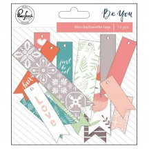 Pinkfresh Studio Be You Mini Leatherette Tags Die-Cuts PFBY200718