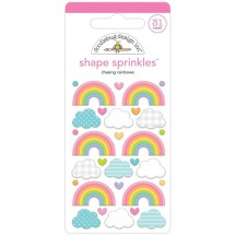 Doodlebug Fairy Garden Chasing Rainbows Sprinkles Enamel Shapes 7201