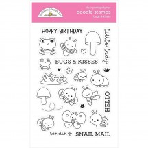 Doodlebug Fairy Garden Bugs & Kisses Doodle Stamps Clear Photopolymer Stamp Set 7213