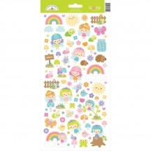 "Doodlebug Fairy Garden 6""x12"" Icons Cardstock Stickers 7219"