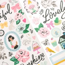 """Maggie Holmes Garden Party 6""""x12"""" Accent & Phrase Stickers 34004896"""