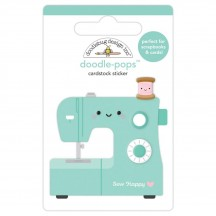 Doodlebug Cute & Crafty Sew Happy Doodle-Pops Dimensional Stickers 7260