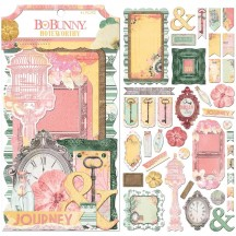 Bo Bunny Sunshine Bliss Noteworthy Die-Cut Journaling & Accents Cardstock 7310198
