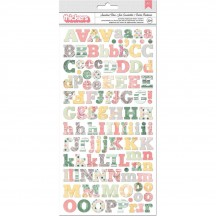 Bo Bunny Sunshine Bliss Printed Chipboard Alpha Thickers 7310205